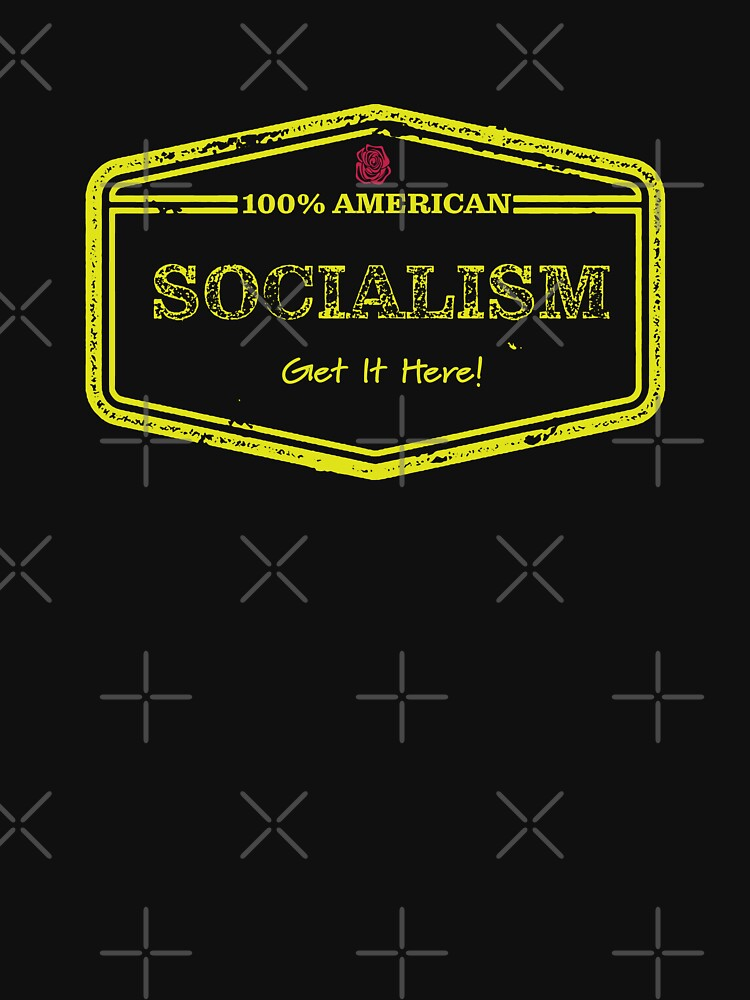 100% American Socialism - Yellow Text by willpate