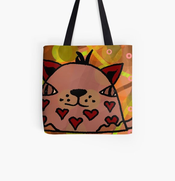 Mr Hearts All Over Print Tote Bag