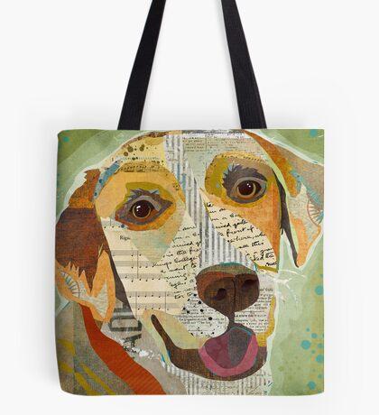 Yellow Lab / Labrador Retriever Dog Portrait Colorful Collage Art  Tote Bag