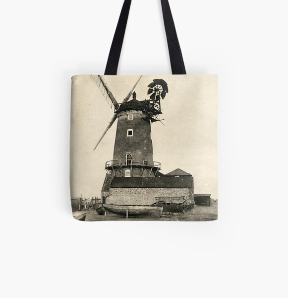 Cley Windmill 1880s All Over Print Tote Bag