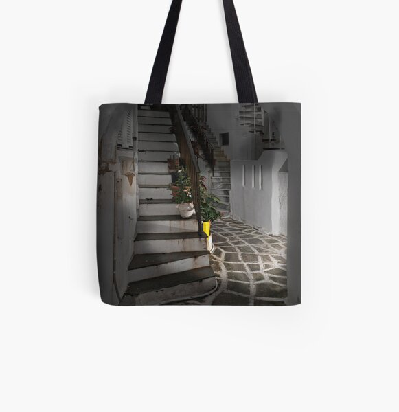Two Staircases and an Alley All Over Print Tote Bag