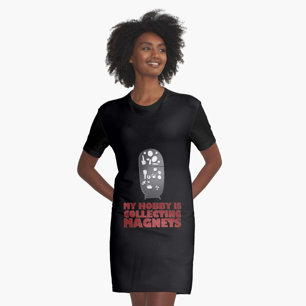 Collecting Magnets Refrigerator Fridge Magnets design Graphic T-Shirt Dress