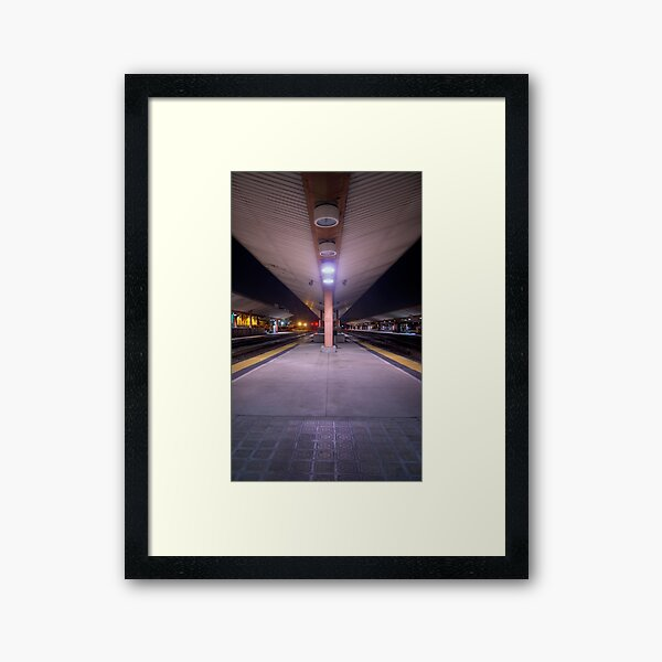 Train Stop Framed Art Print