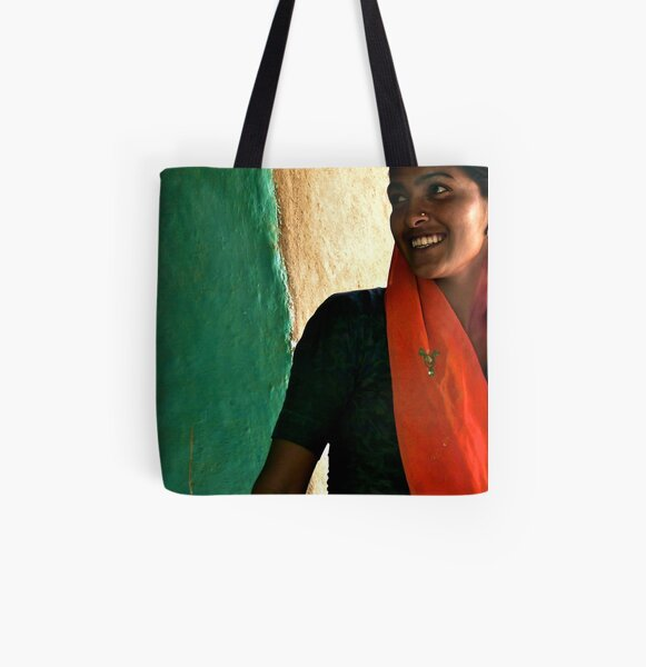 when the seamstress smiles All Over Print Tote Bag