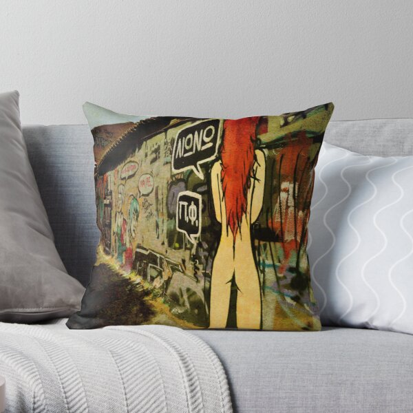 A Girl and a Wall Throw Pillow