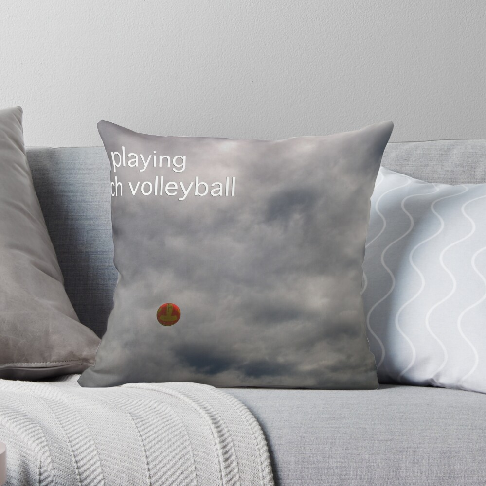 As Titled Throw Pillow
