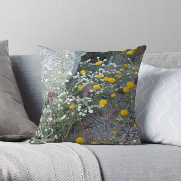 Wild Flowers on Angeles Forest #2 Throw Pillow