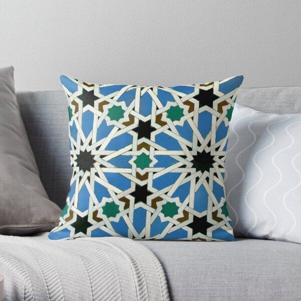 Moorish mosaic Throw Pillow