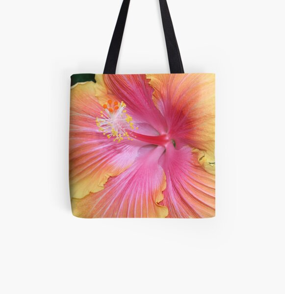 Hibiscus All Over Print Tote Bag