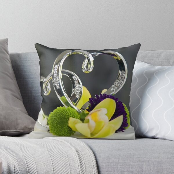 Hearts Combined Throw Pillow