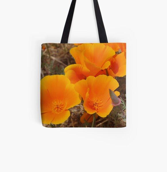 California Poppy #1 All Over Print Tote Bag