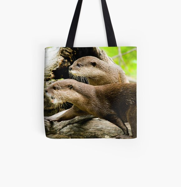 Otters All Over Print Tote Bag