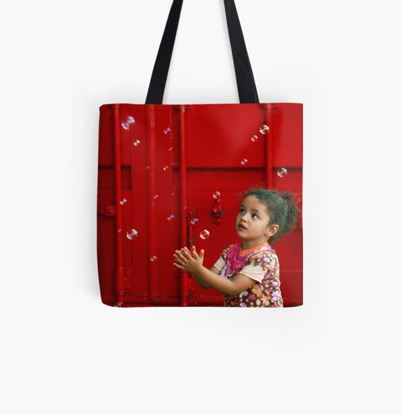 Bubbling girl  All Over Print Tote Bag