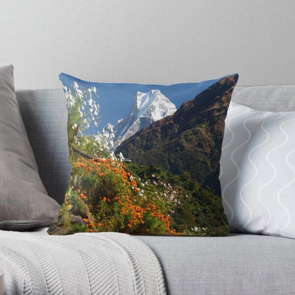 Annapurna Conservation Area. Throw Pillow