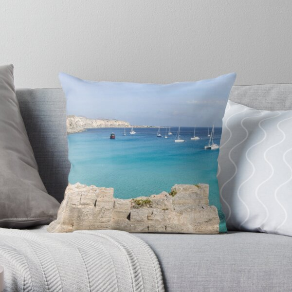 Red Cove Throw Pillow