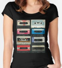 70's/80's cassettes! Women's Fitted Scoop T-Shirt
