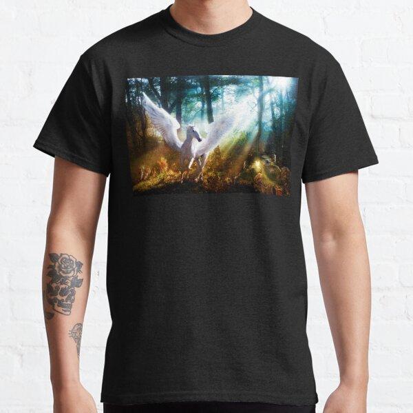 White Pegasus Meets Little Fairy Classic T-Shirt