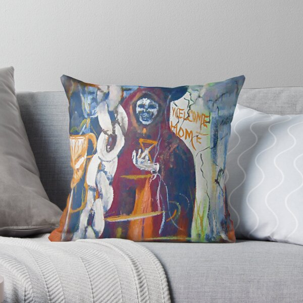 """Come Ghoul With Me?"""" Throw Pillow"