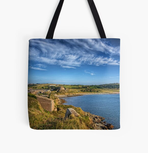 Braye and the Arsenal from Roselle - Alderrney All Over Print Tote Bag