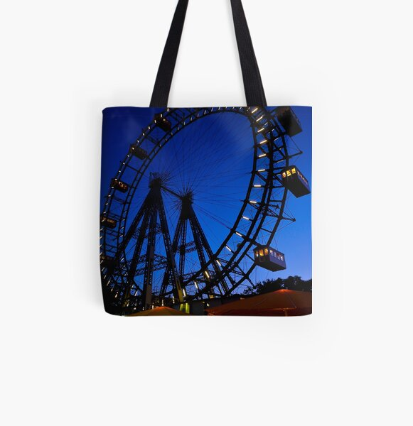 La ruota panoramica del Prater di Vienna All Over Print Tote Bag