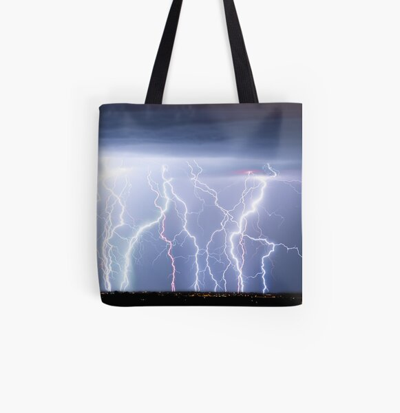 Electric Lightning Sky All Over Print Tote Bag