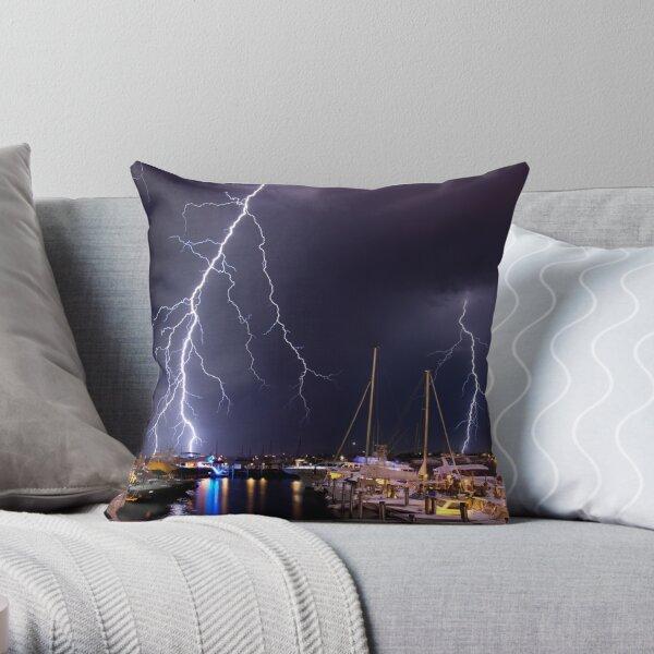 Storm over Nantucket Throw Pillow