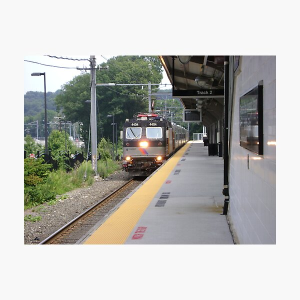 Morning train Photographic Print
