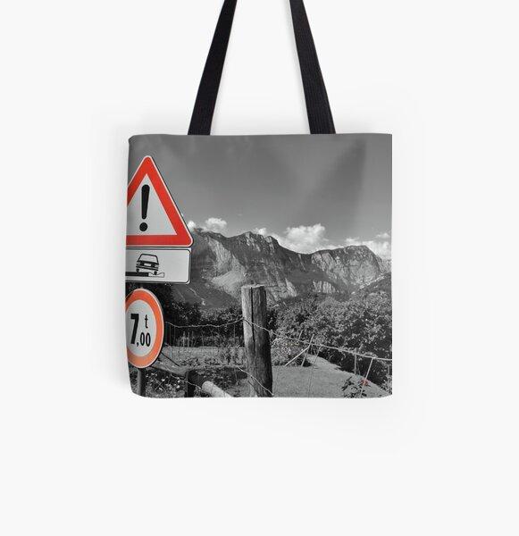 Attenzione All Over Print Tote Bag