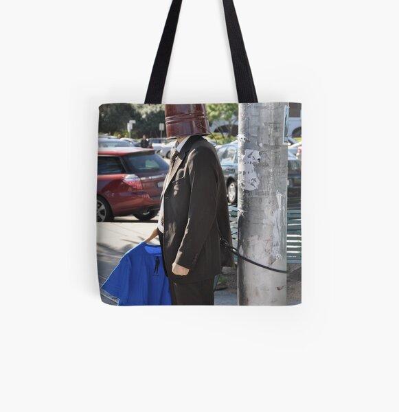 Mr Bucket, St Kilda, Melbourne All Over Print Tote Bag