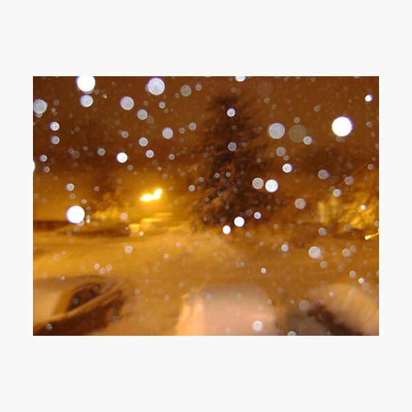 Snowy morning Photographic Print