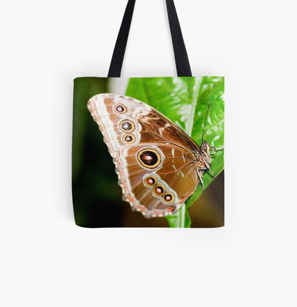 Beautiful Brown Butterfly All Over Print Tote Bag