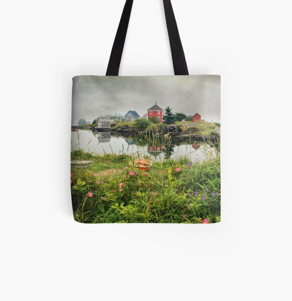 Foggy Day at Stonehurst I All Over Print Tote Bag