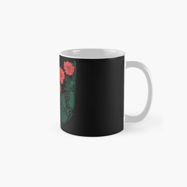 Red and Green Celtic Poppies Classic Mug