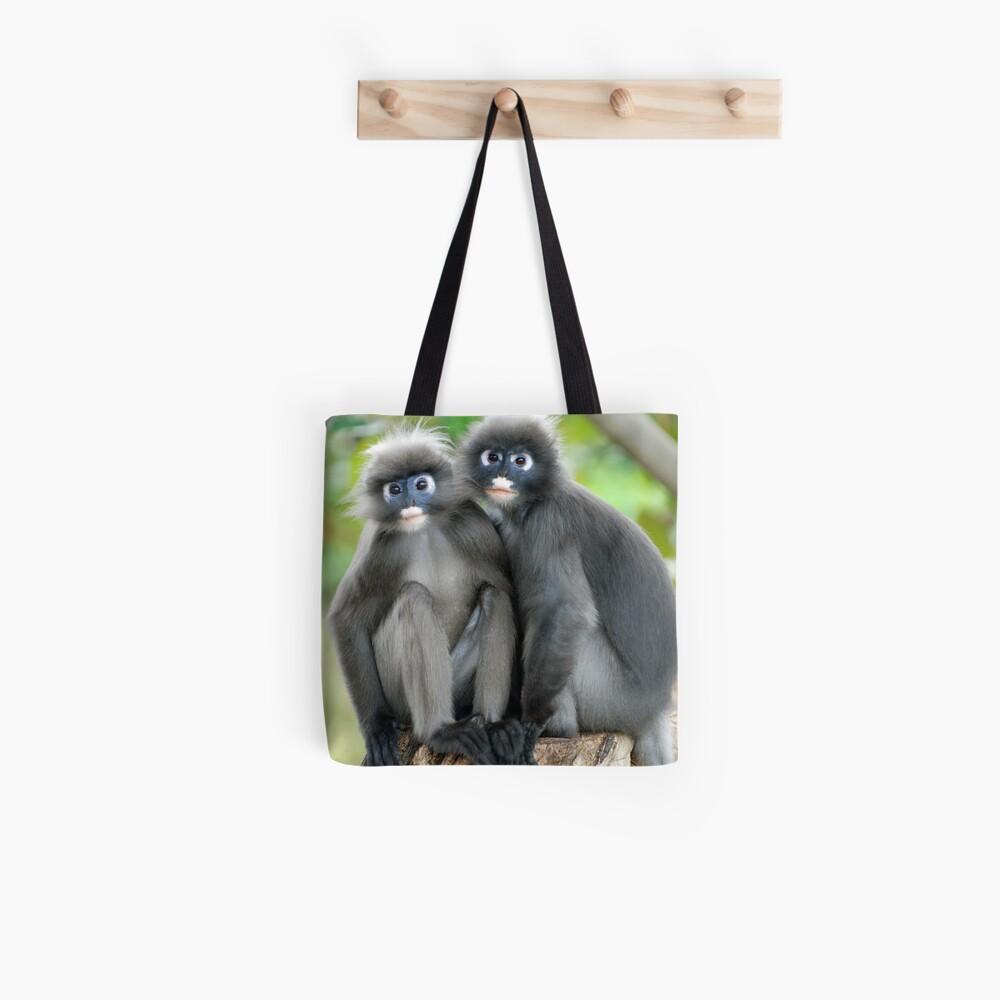 Dusky Monkeys Tote Bag