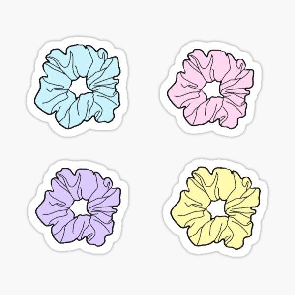 Pastel scrunchies Sticker