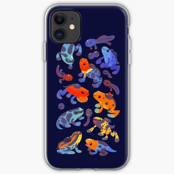 Poison dart frogs - dark iPhone Soft Case