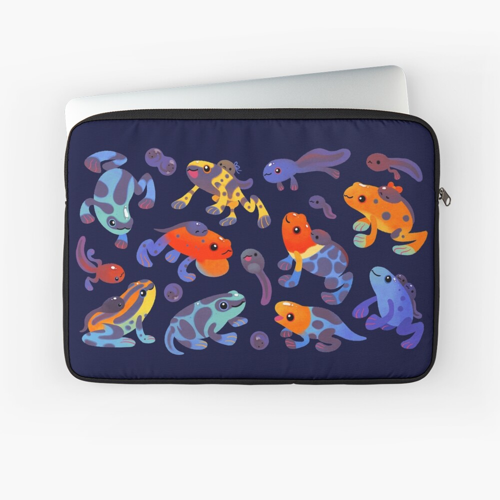 Poison dart frogs - dark Laptop Sleeve