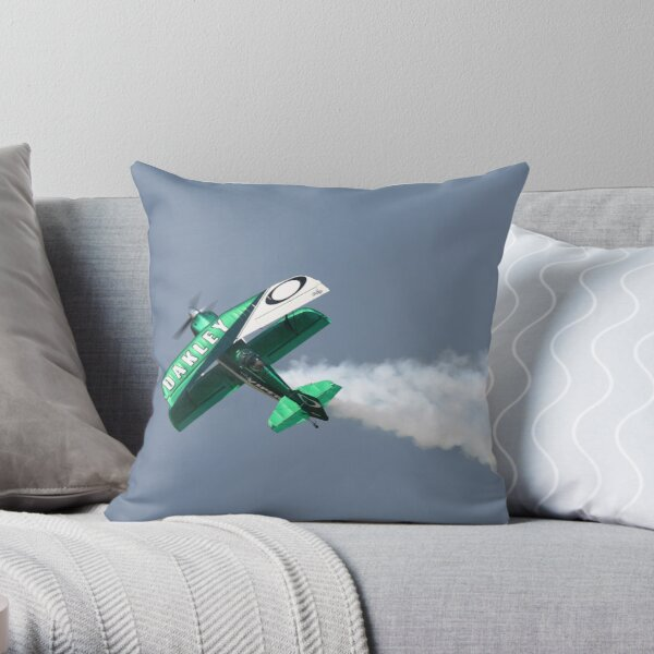 Aerobatic Airplane Throw Pillow