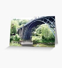 Iron Bridge, Shropshire UK Greeting Card