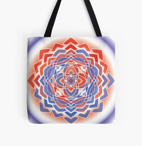 red and blue makes.... All Over Print Tote Bag