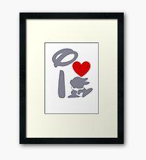 I Heart Thumper (Inverted) Framed Print