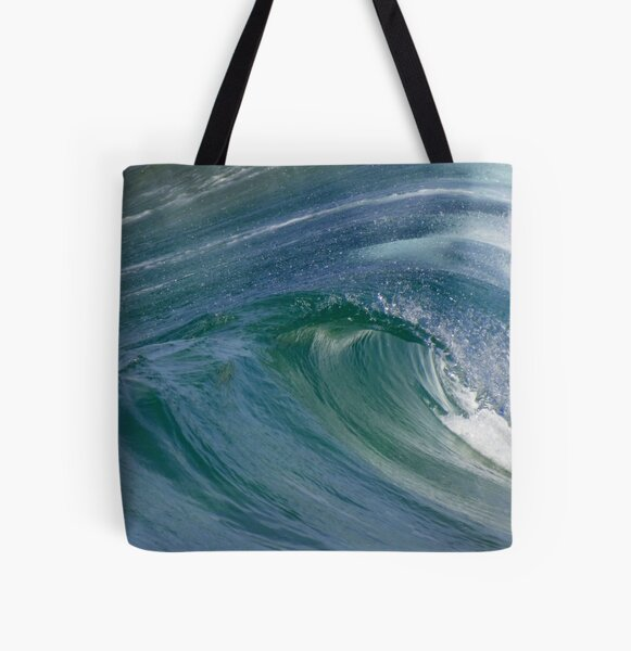 Curvaceous Water All Over Print Tote Bag