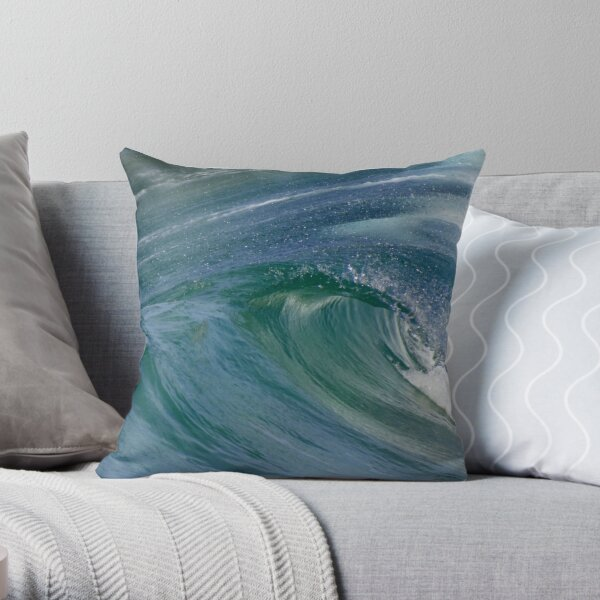 Curvaceous Water Throw Pillow