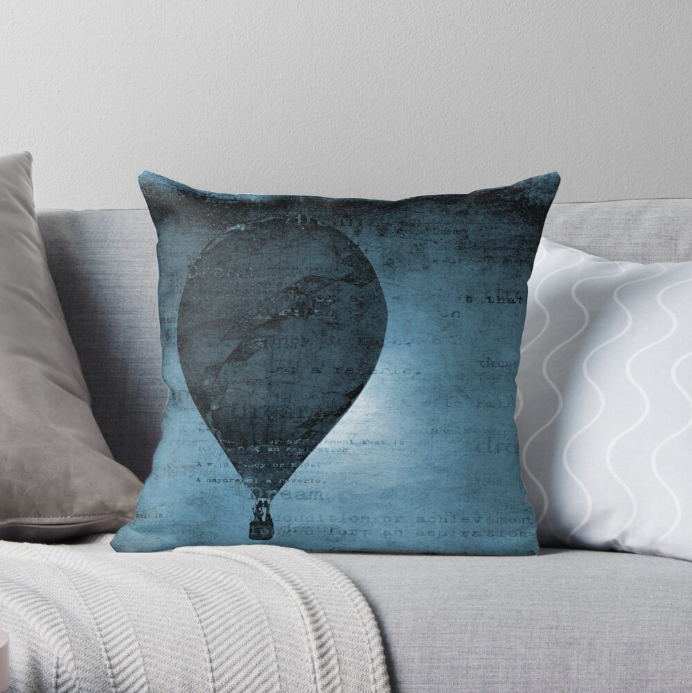 Flying in a Blue Dream Throw Pillow