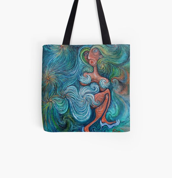 Faces of Love: dressed up and ready All Over Print Tote Bag