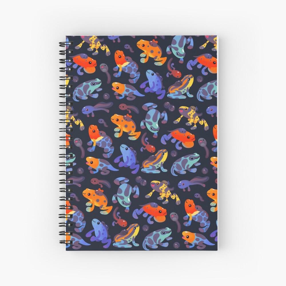 Poison dart frogs - dark Spiral Notebook