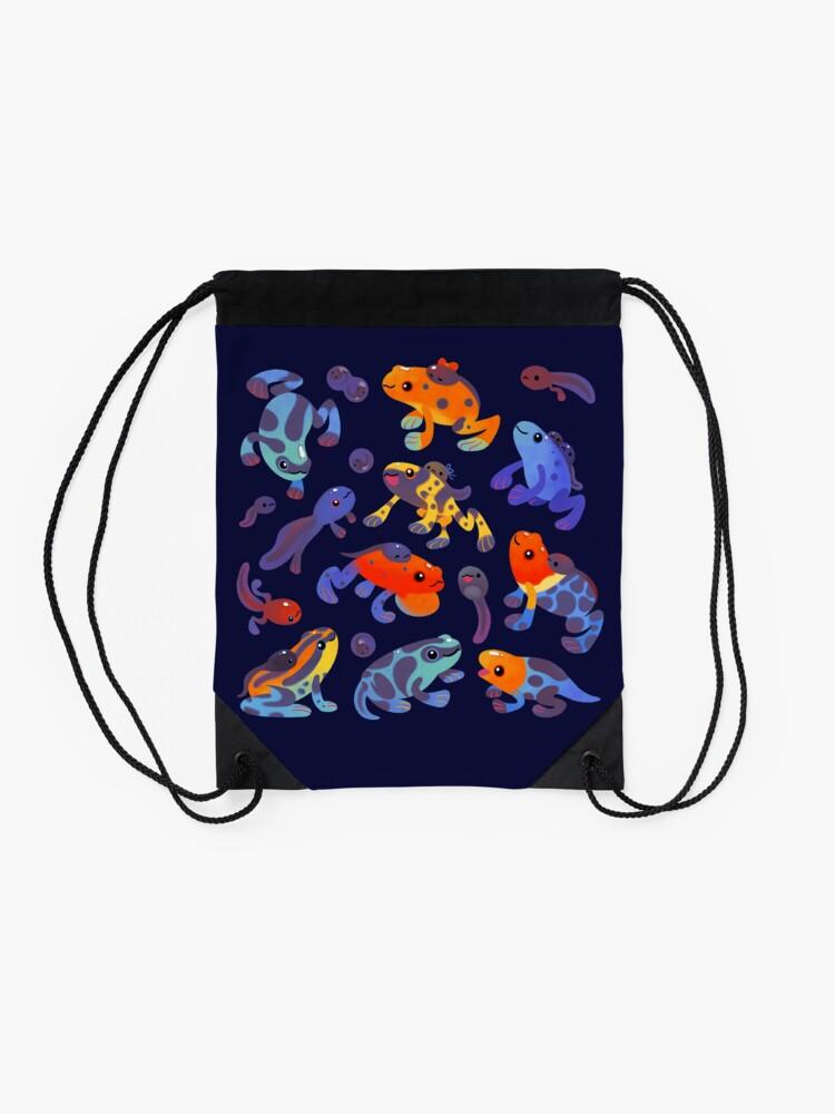 Alternate view of Poison dart frogs - dark Drawstring Bag