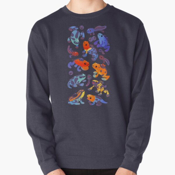 Poison dart frogs - dark Pullover Sweatshirt