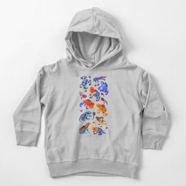 Poison dart frogs - dark Toddler Pullover Hoodie