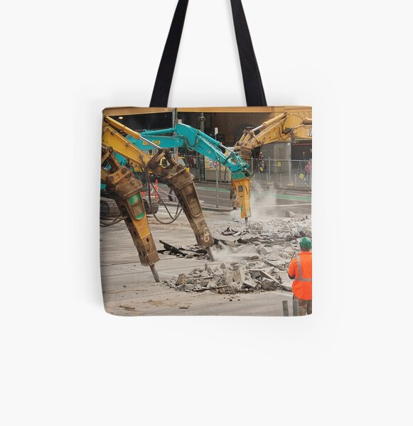 Construction Zone All Over Print Tote Bag
